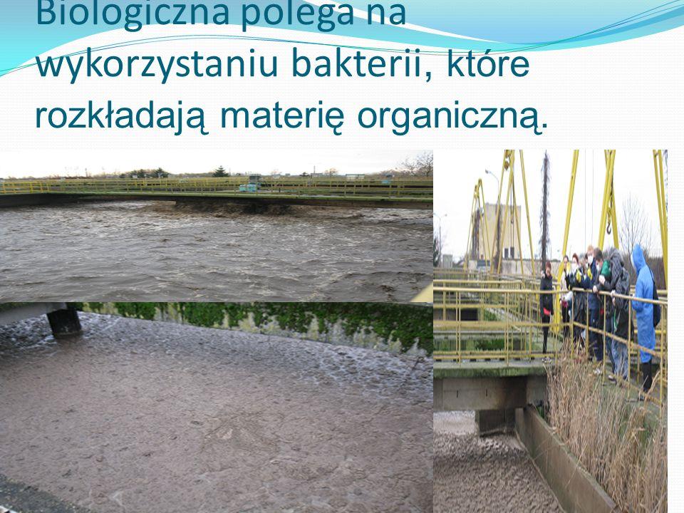 Biologiczna polega na wykorzystaniu bakterii, które rozkładają materię organiczną.