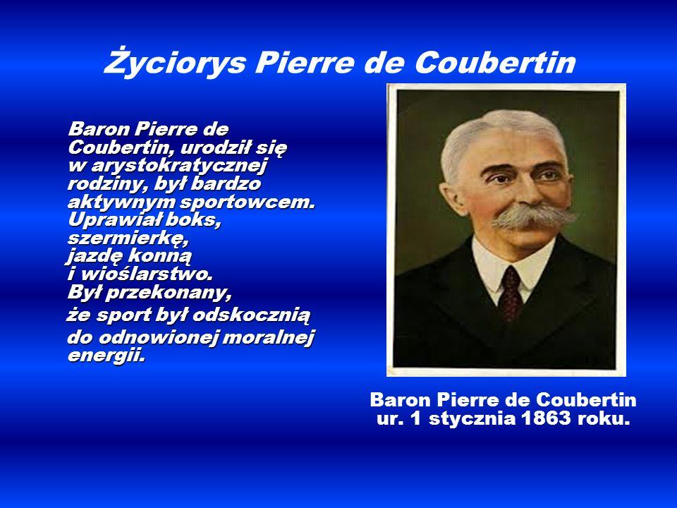 Życiorys Pierre de Coubertin