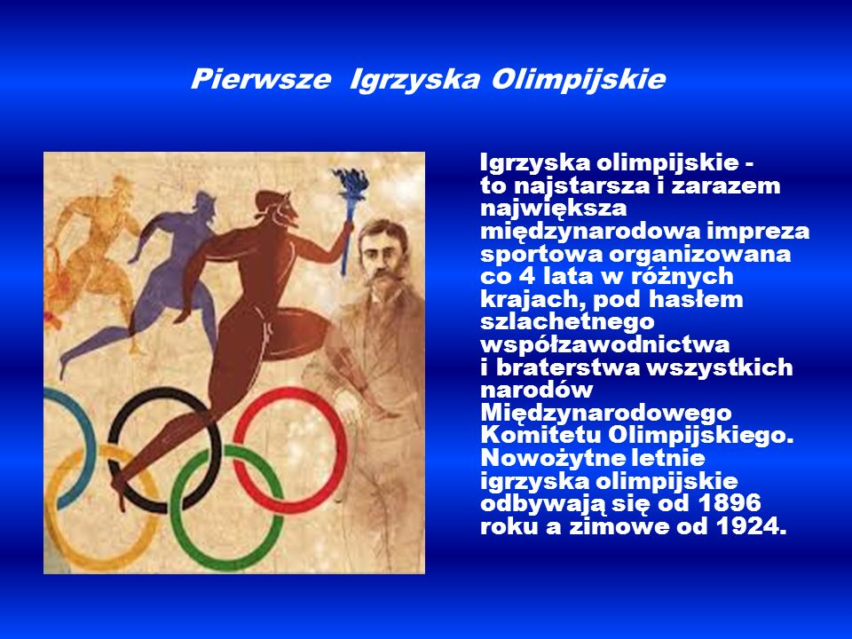 Pierwsze Igrzyska Olimpijskie