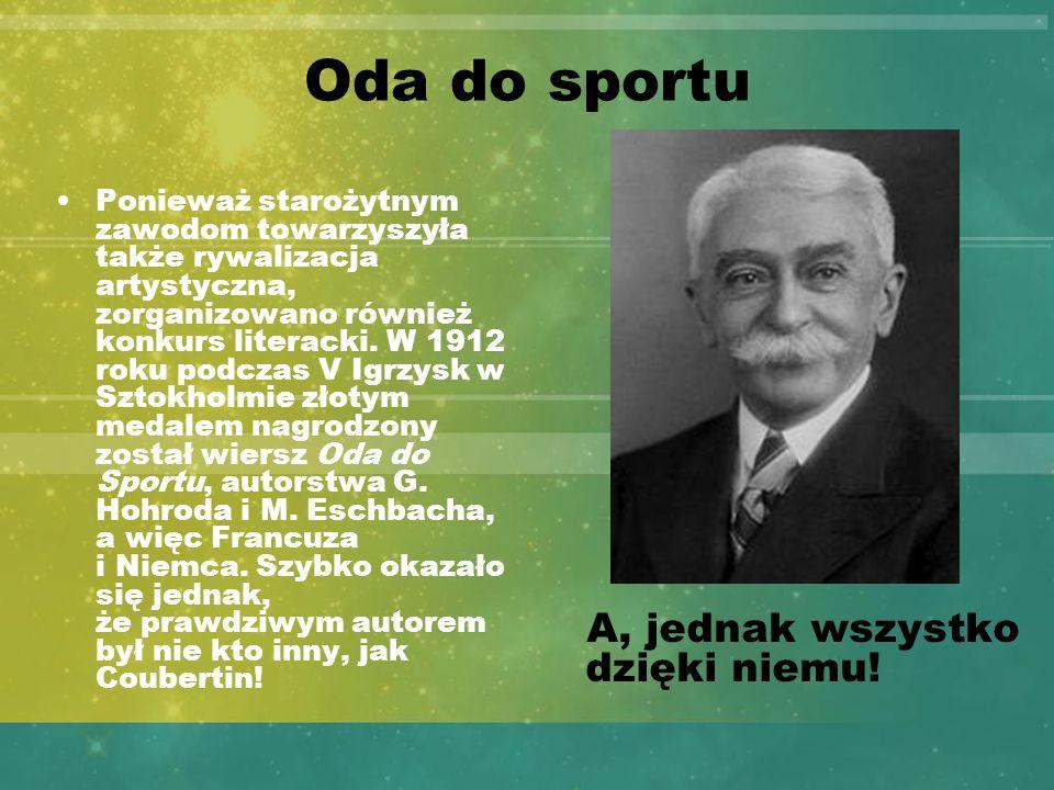 Oda do sportu A, jednak wszystko dzięki niemu!