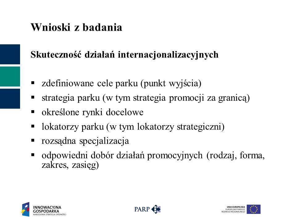 Wnioski z badania Skuteczność działań internacjonalizacyjnych