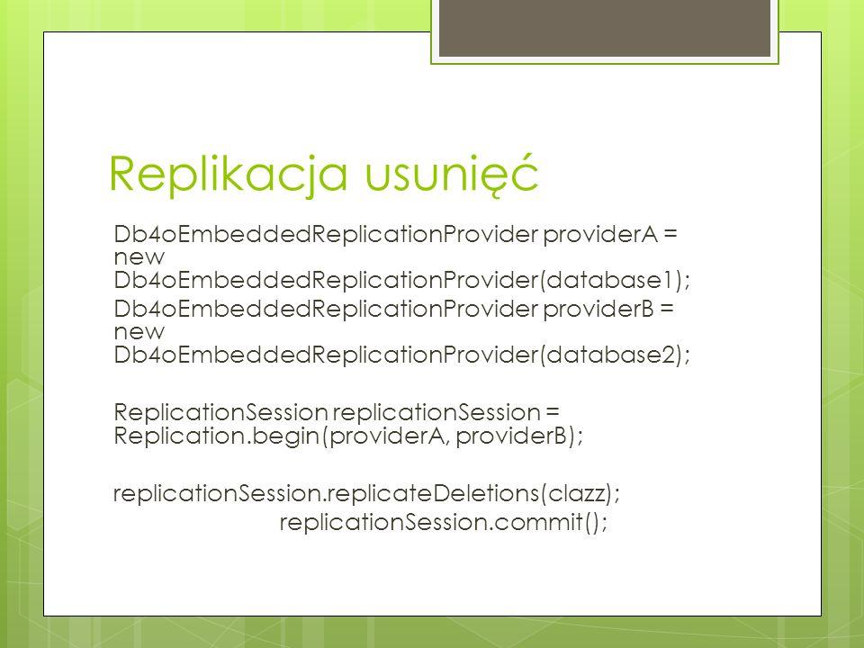 Replikacja usunięć