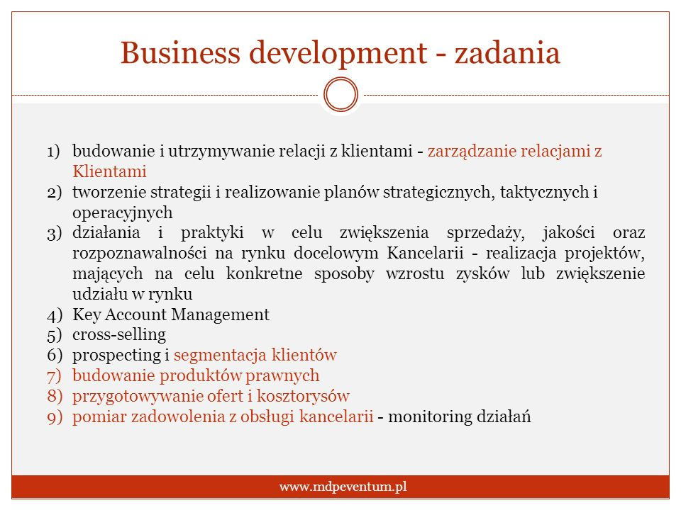 Business development - zadania