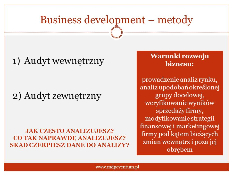 Business development – metody