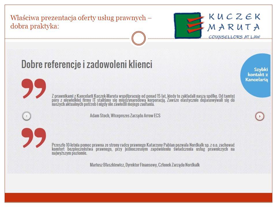 Właściwa prezentacja oferty usług prawnych –