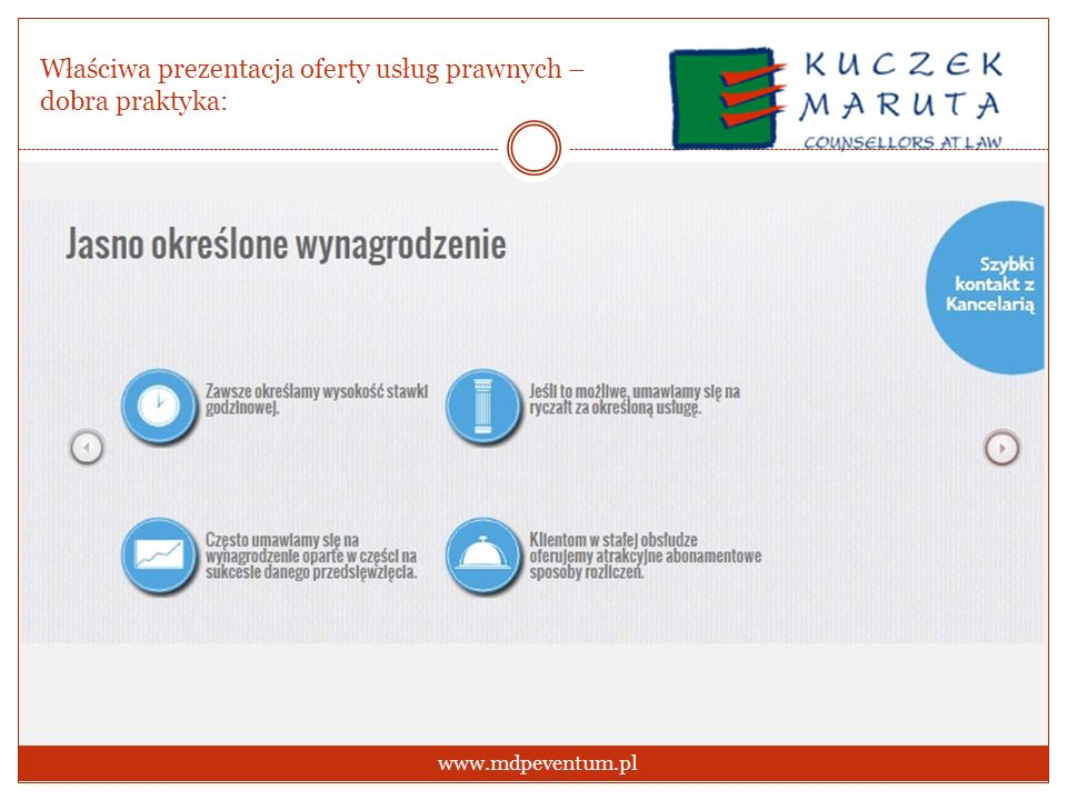 Właściwa prezentacja oferty usług prawnych – dobra praktyka: