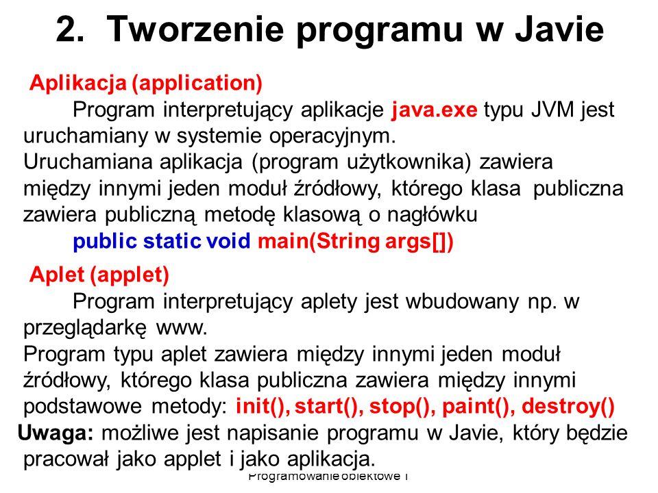 2. Tworzenie programu w Javie