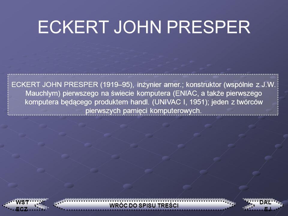 ECKERT JOHN PRESPER