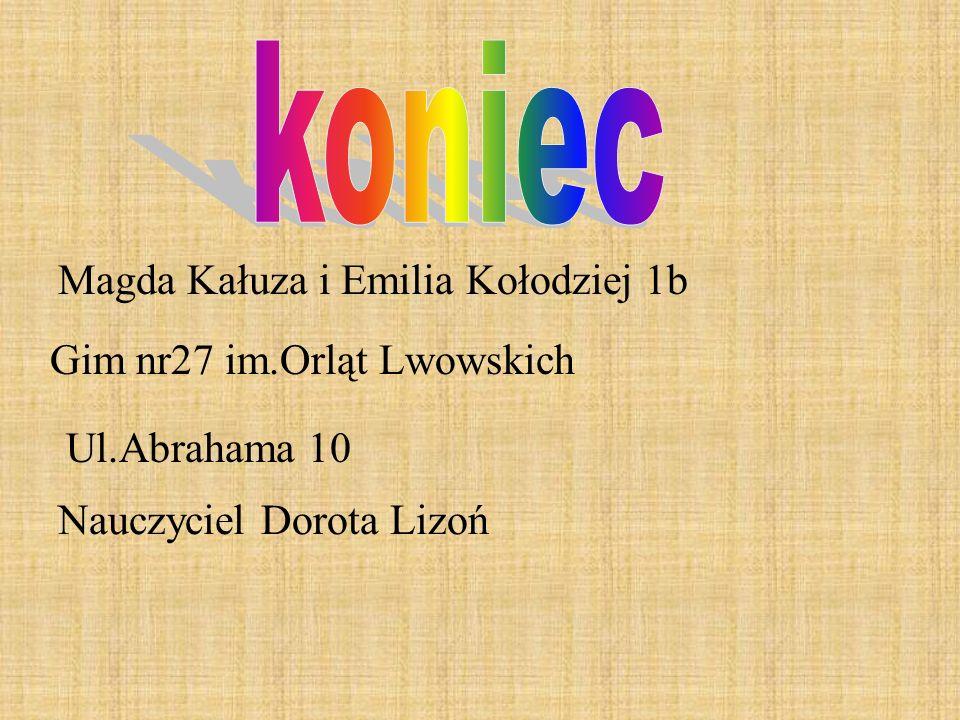 koniec Magda Kałuza i Emilia Kołodziej 1b Gim nr27 im.Orląt Lwowskich