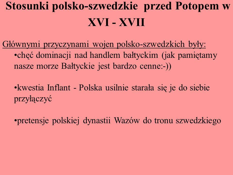 Stosunki polsko-szwedzkie przed Potopem w XVI - XVII