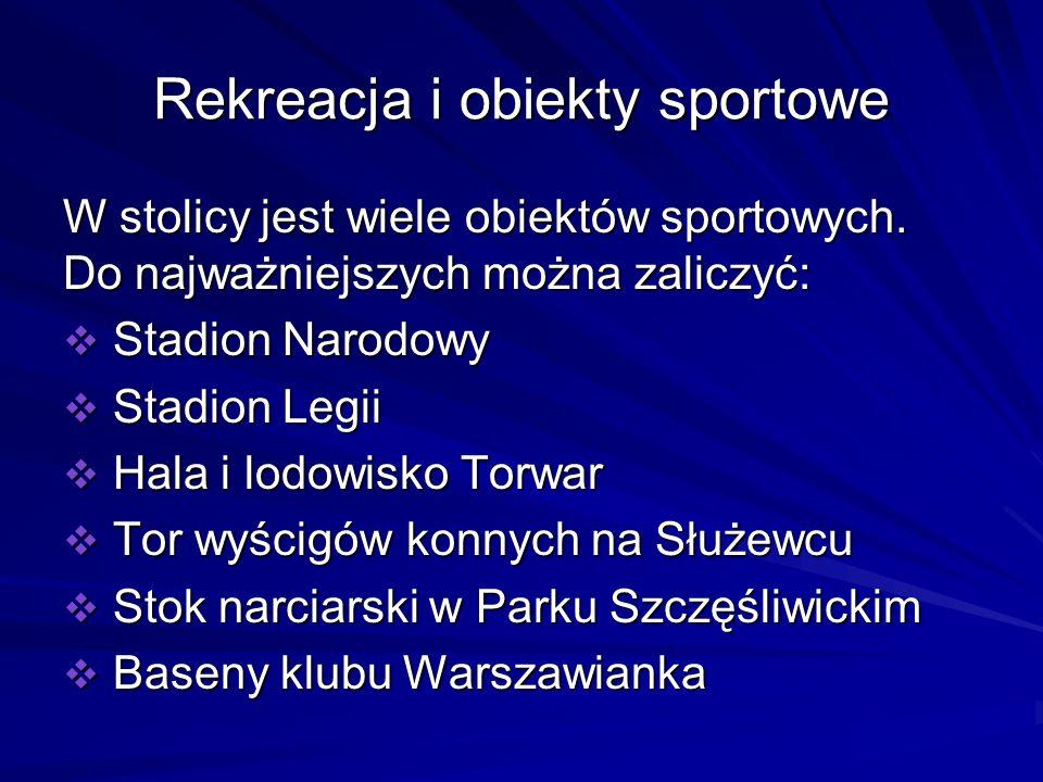 Rekreacja i obiekty sportowe