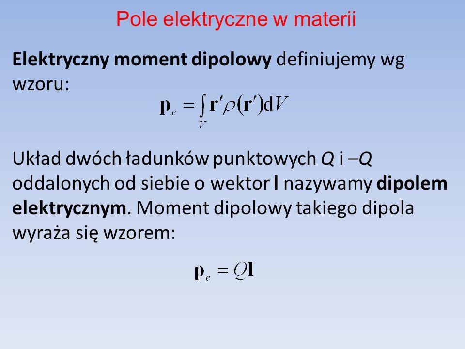 Pole elektryczne w materii