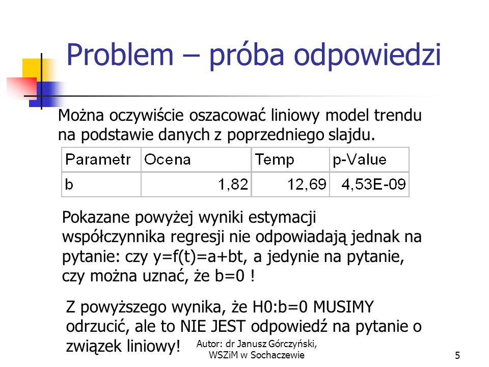 Problem – próba odpowiedzi