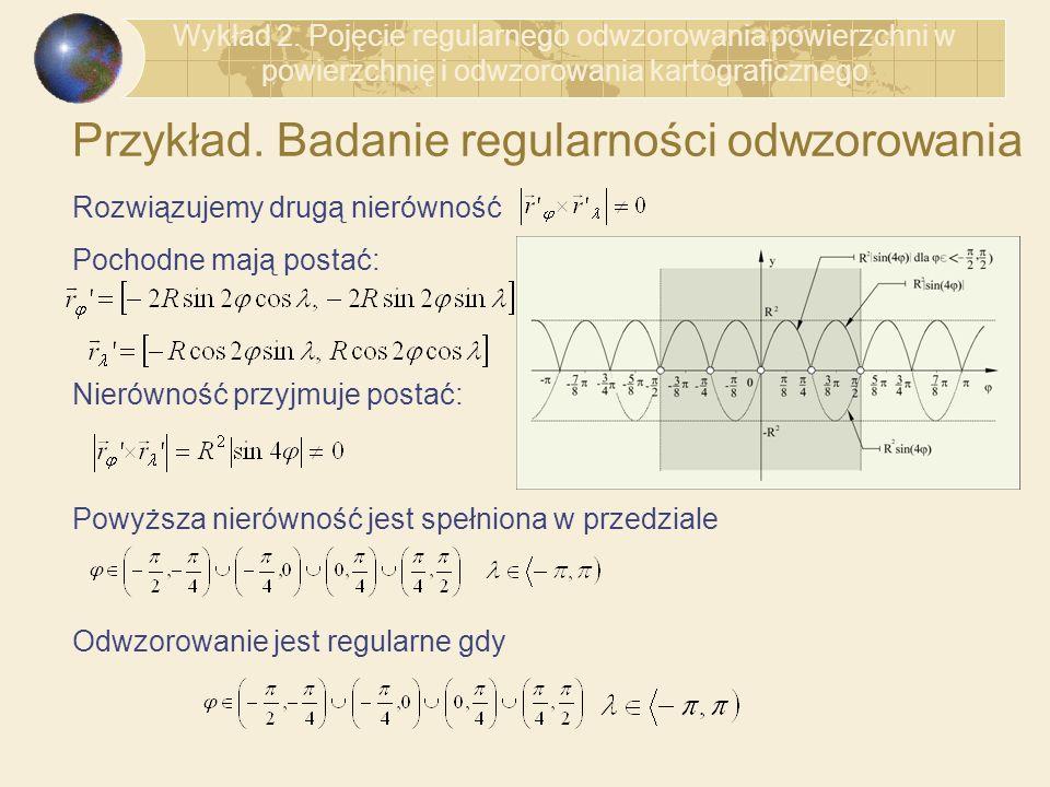 Przykład. Badanie regularności odwzorowania