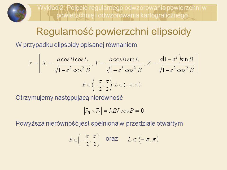 Regularność powierzchni elipsoidy