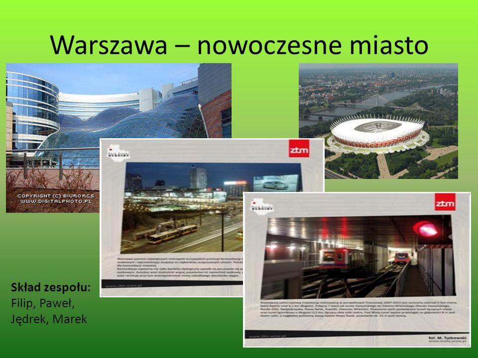 Warszawa – nowoczesne miasto