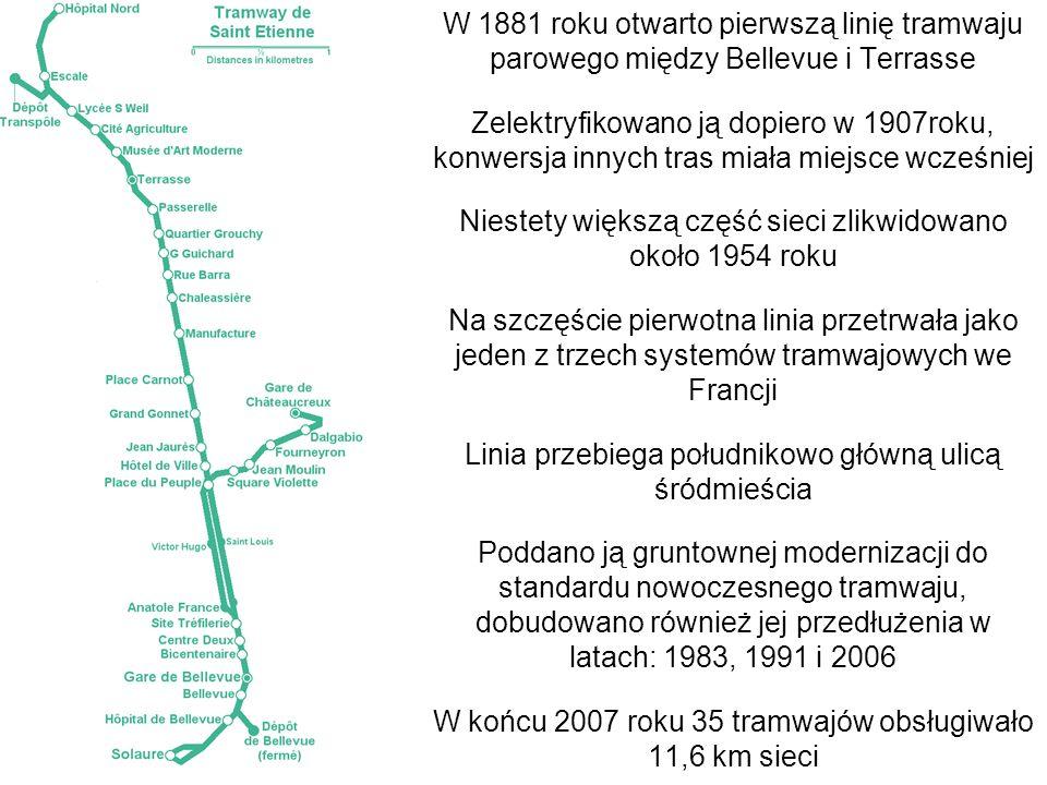 Niestety większą część sieci zlikwidowano około 1954 roku