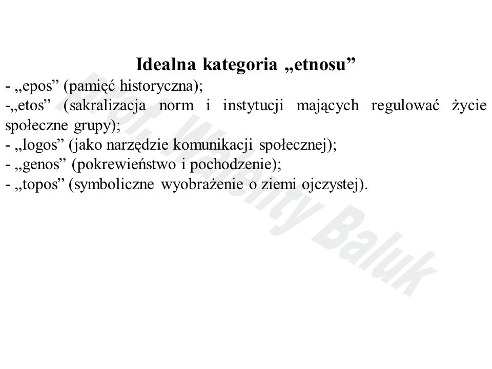 "Idealna kategoria ""etnosu"