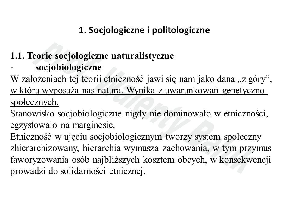 1. Socjologiczne i politologiczne