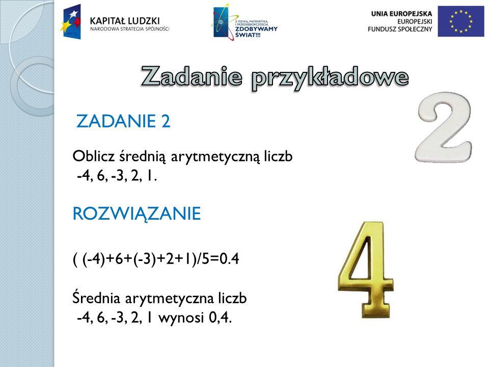 Zadanie przykładowe ZADANIE 2 ROZWIĄZANIE