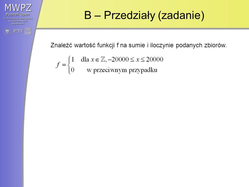 B – Przedziały (zadanie)