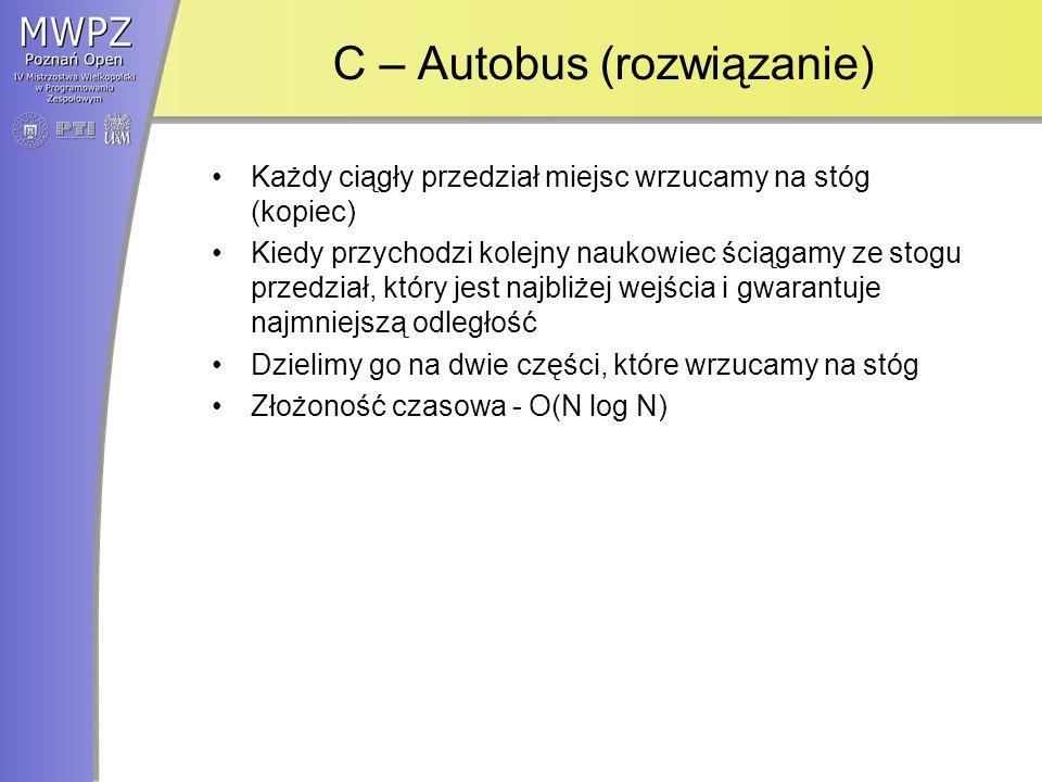 C – Autobus (rozwiązanie)