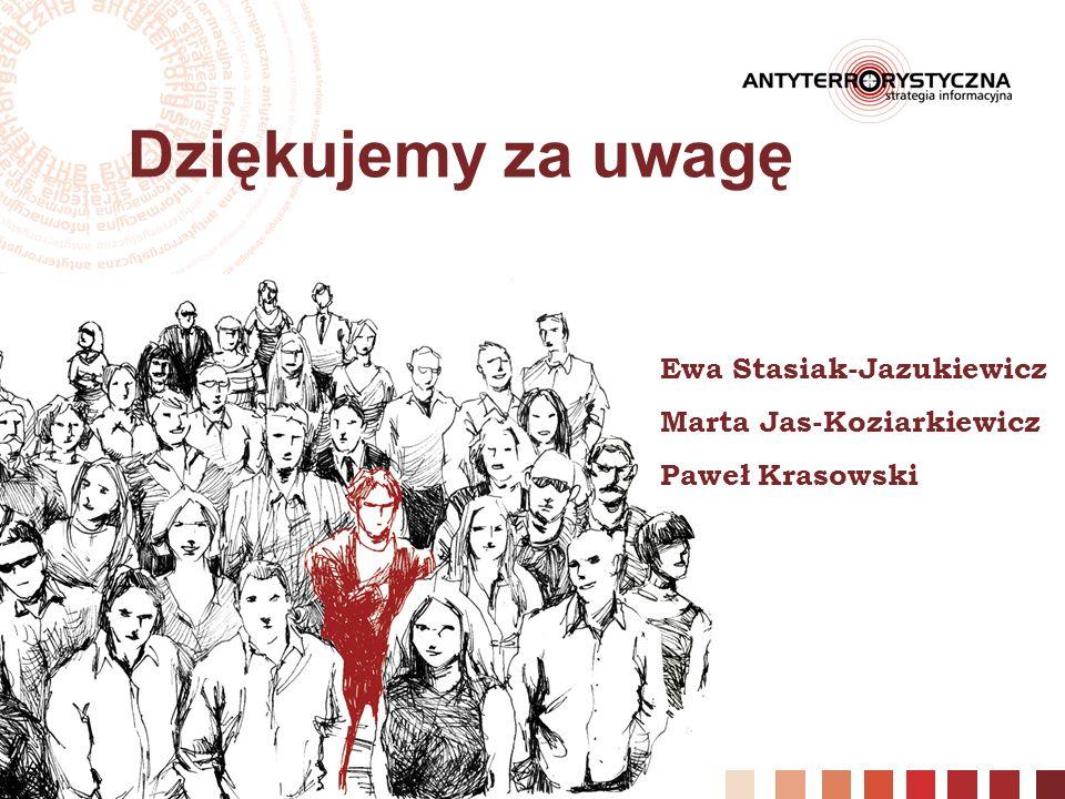 Dziękujemy za uwagę Ewa Stasiak-Jazukiewicz Marta Jas-Koziarkiewicz