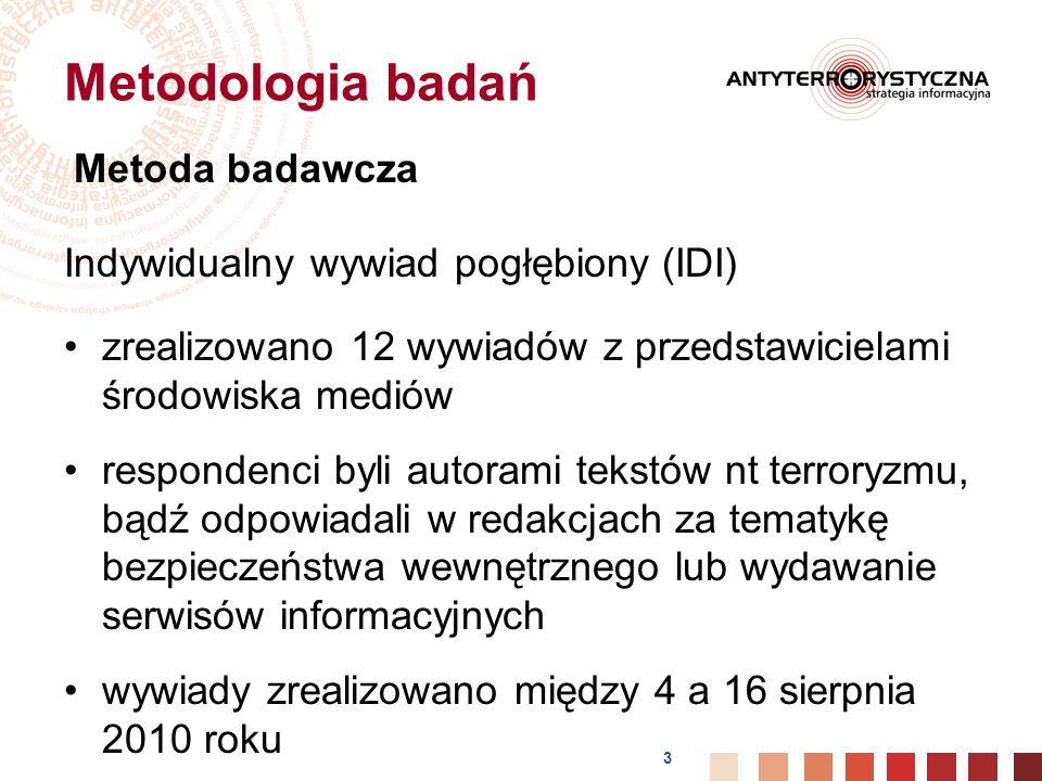 Metodologia badań Indywidualny wywiad pogłębiony (IDI)