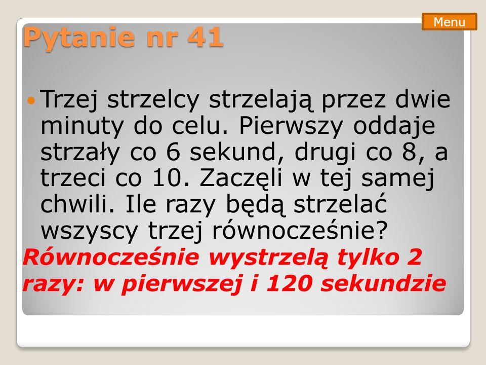 Pytanie nr 41 Menu.