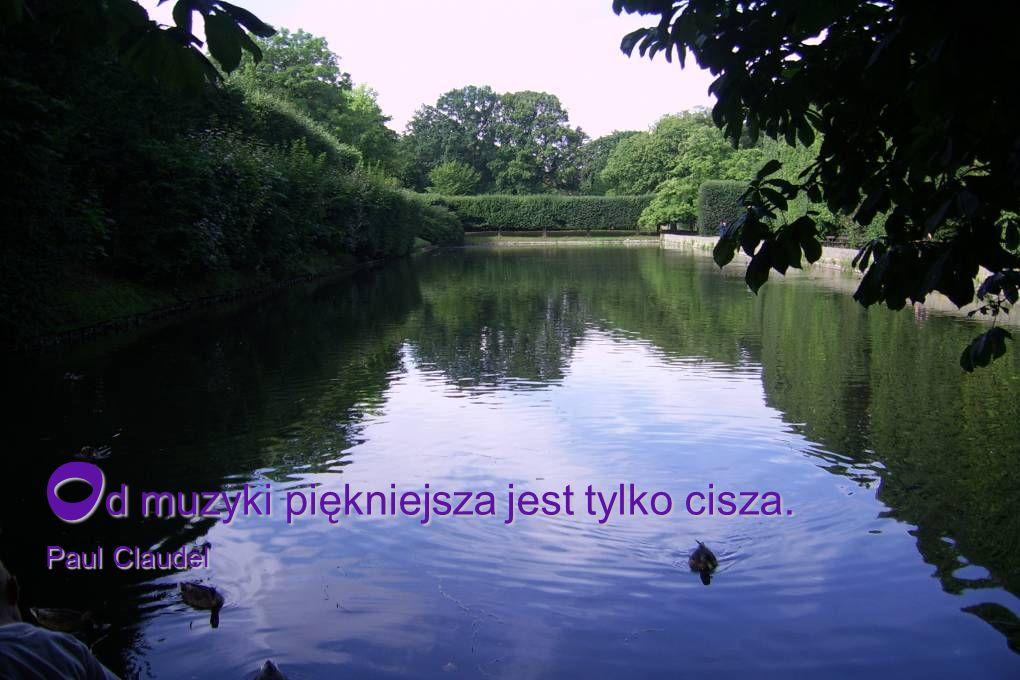 Od muzyki piękniejsza jest tylko cisza. Paul Claudel