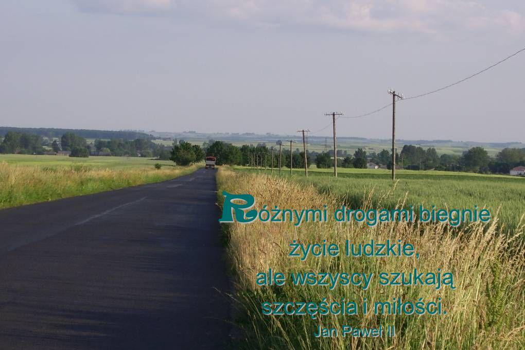 Różnymi drogami biegnie życie ludzkie, ale wszyscy szukają szczęścia i miłości. Jan Paweł II