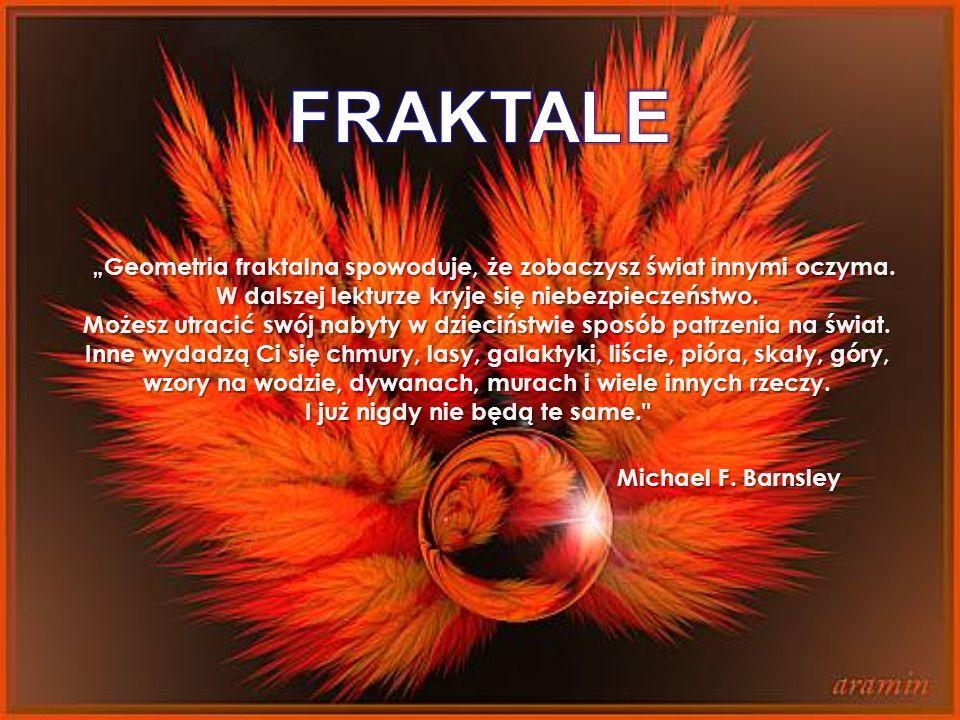 """FRAKTALE """"Geometria fraktalna spowoduje, że zobaczysz świat innymi oczyma. W dalszej lekturze kryje się niebezpieczeństwo."""