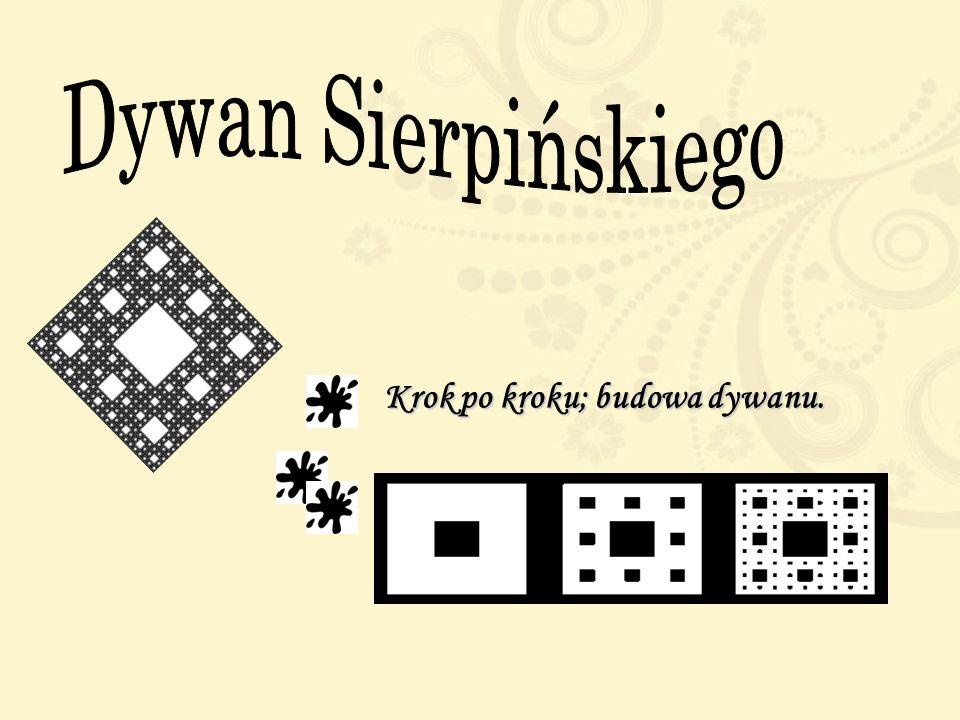 Dywan Sierpińskiego Krok po kroku; budowa dywanu.