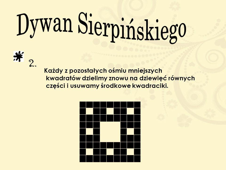 Dywan Sierpińskiego 2. Każdy z pozostałych ośmiu mniejszych