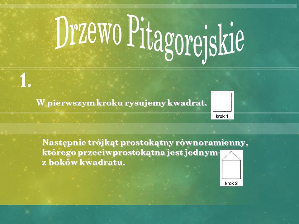 Drzewo Pitagorejskie 1. W pierwszym kroku rysujemy kwadrat.