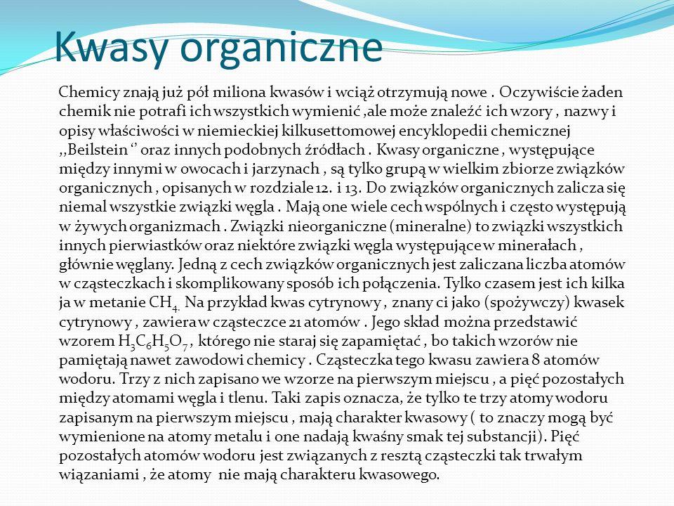 Kwasy organiczne