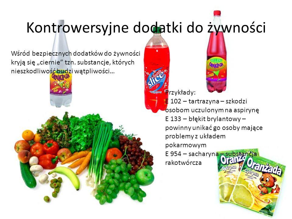 Kontrowersyjne dodatki do żywności