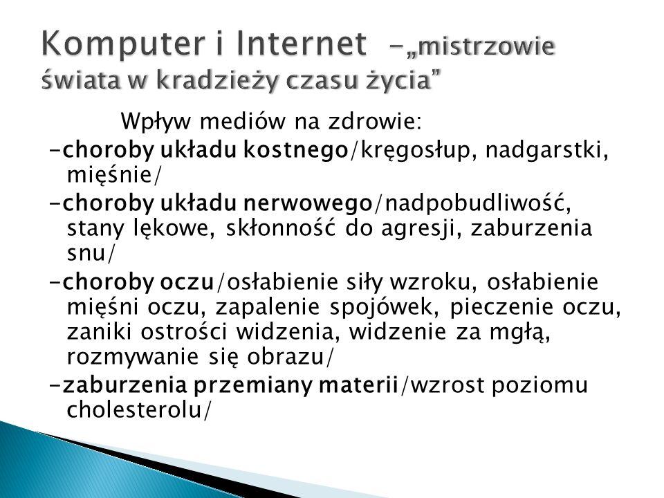 """Komputer i Internet -""""mistrzowie świata w kradzieży czasu życia"""
