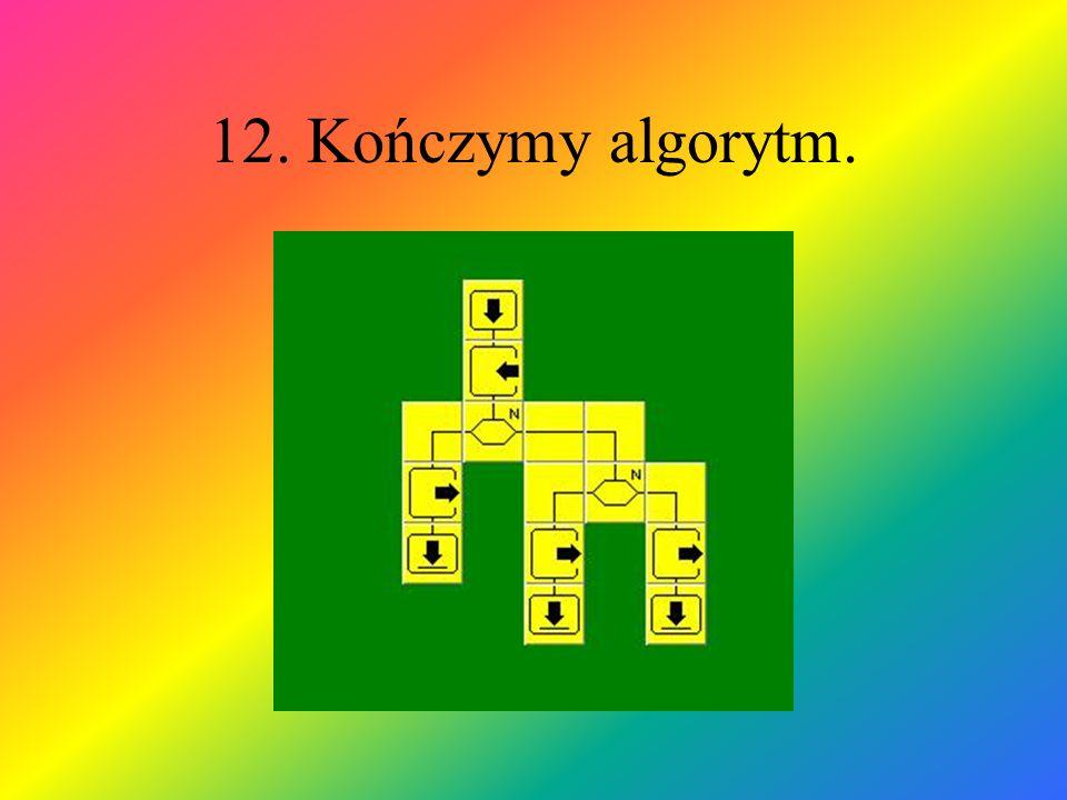 12. Kończymy algorytm.