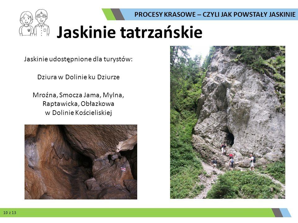 Jaskinie tatrzańskie PROCESY KRASOWE – CZYLI JAK POWSTAŁY JASKINIE