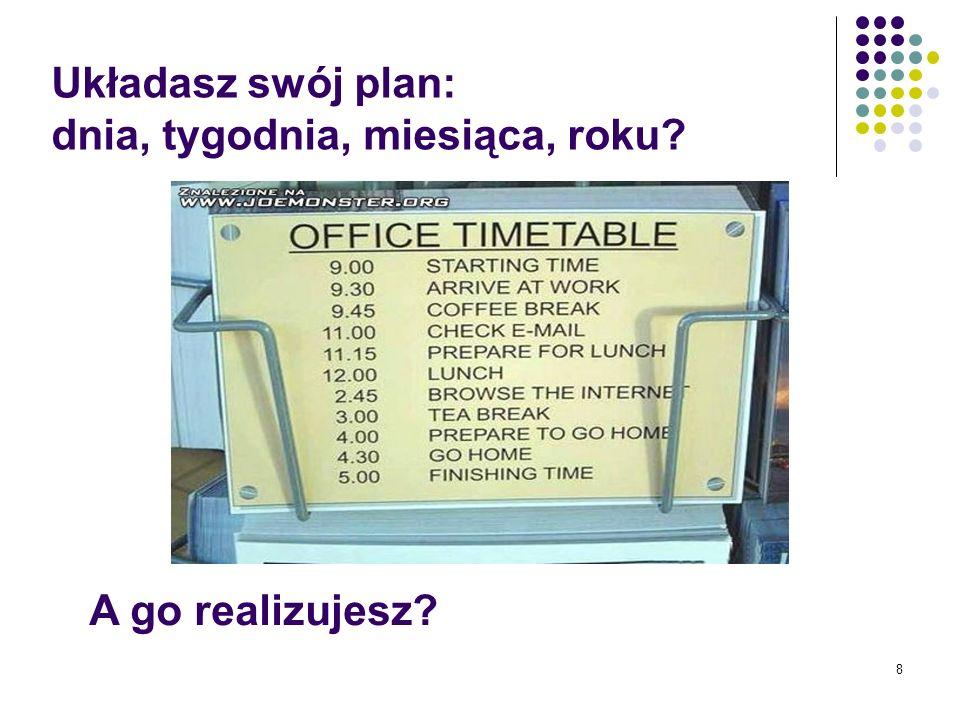 Układasz swój plan: dnia, tygodnia, miesiąca, roku