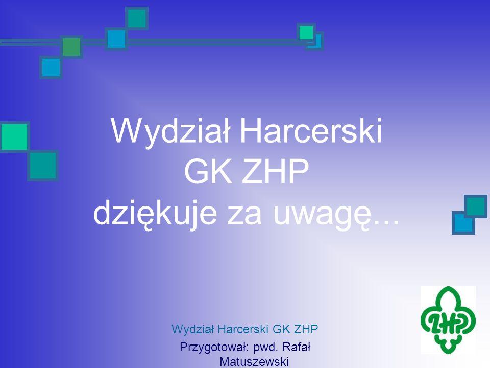 Wydział Harcerski GK ZHP dziękuje za uwagę...