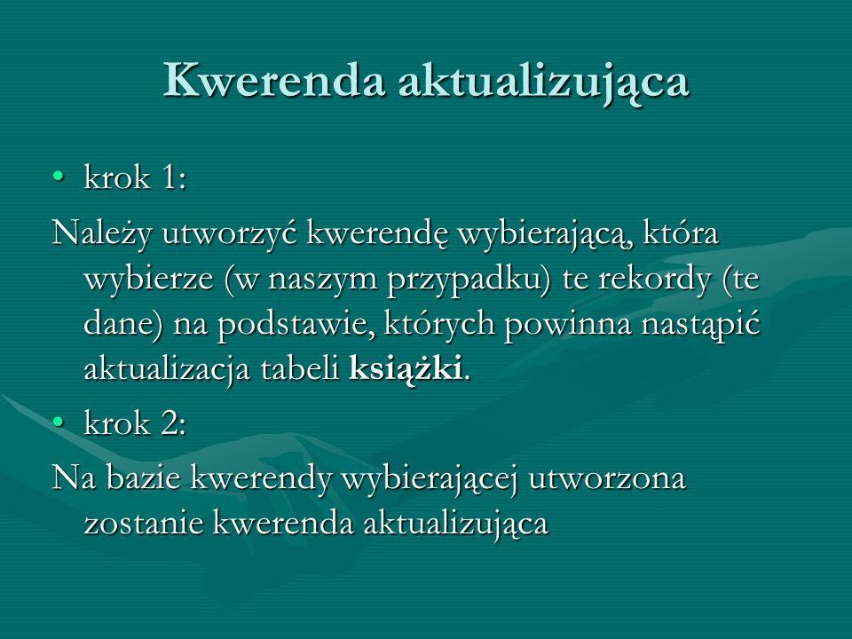 Kwerenda aktualizująca