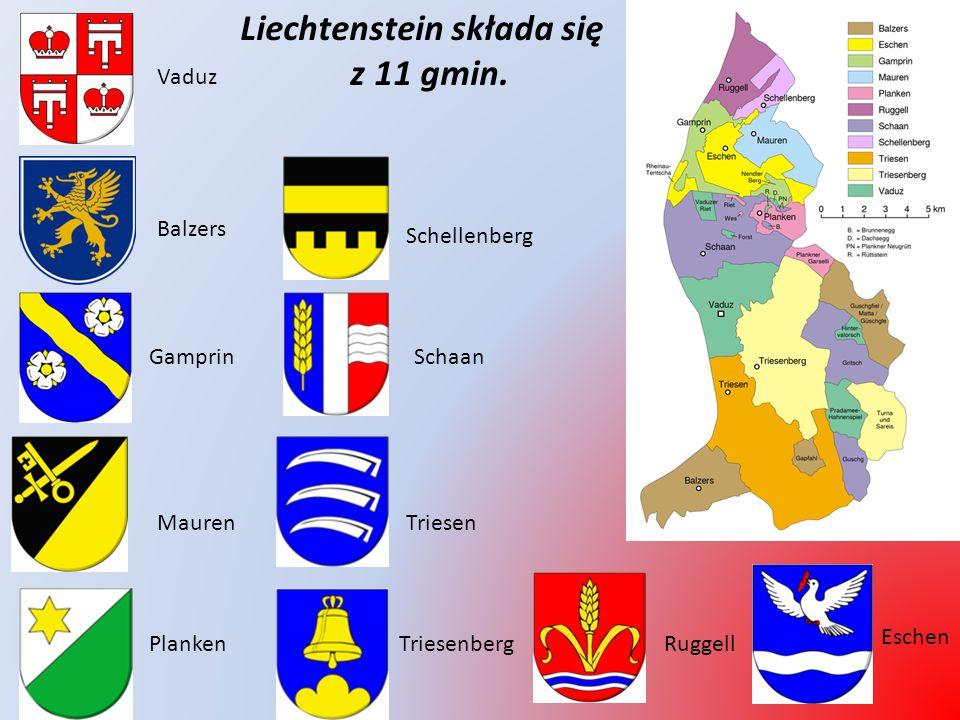 Liechtenstein składa się z 11 gmin.