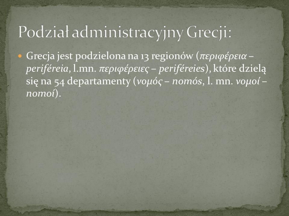 Podział administracyjny Grecji: