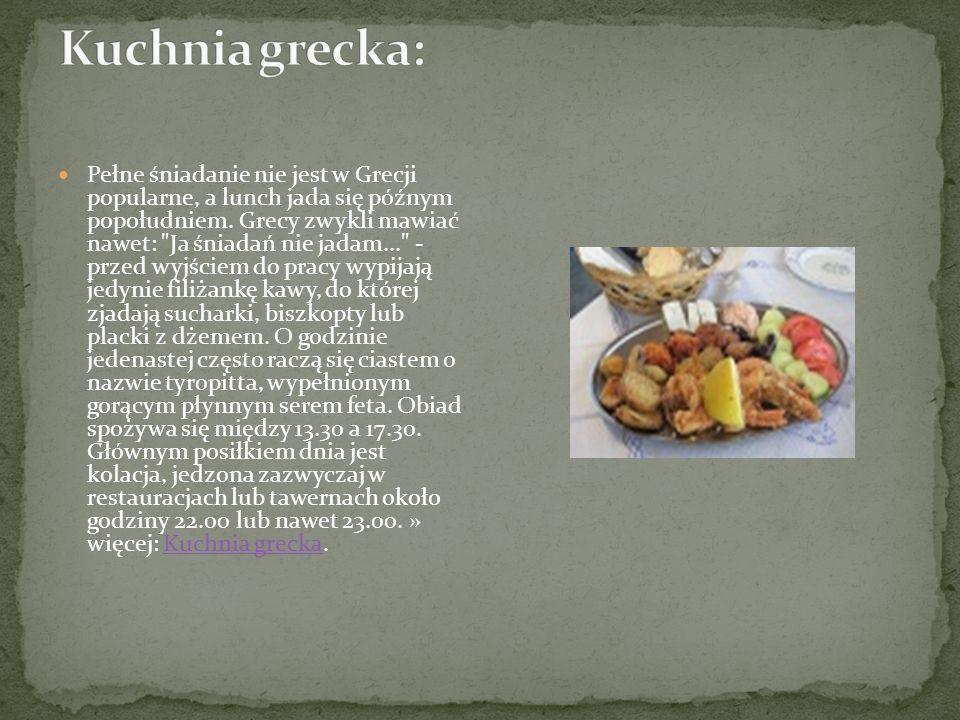 Kuchnia grecka: