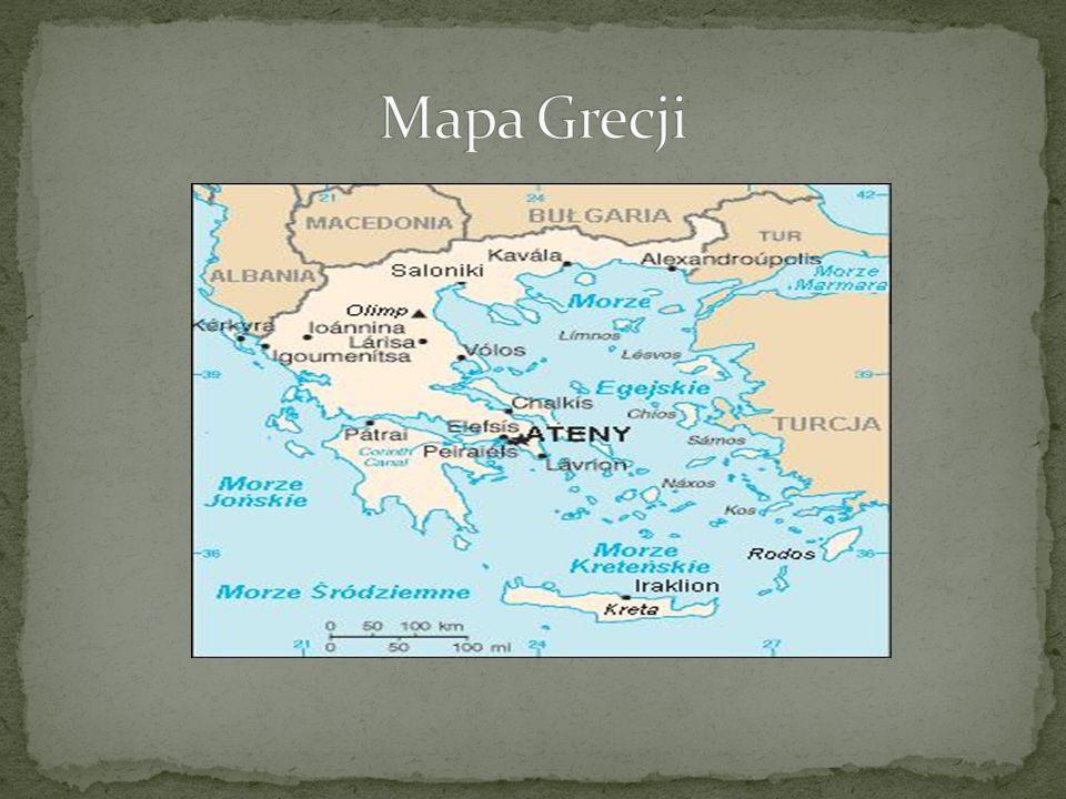 Mapa Grecji