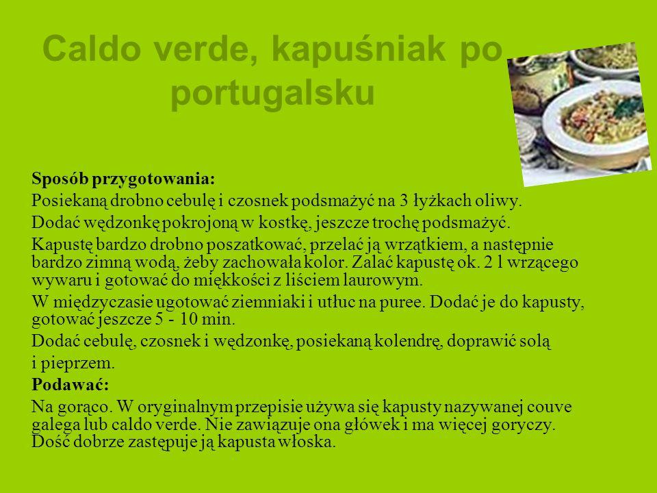 Caldo verde, kapuśniak po portugalsku