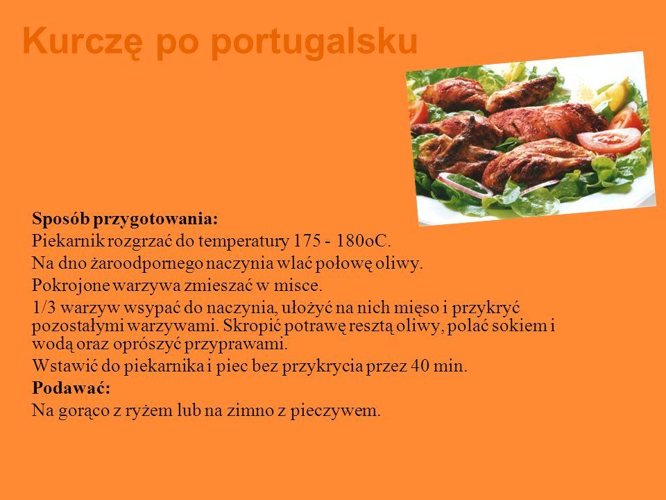 Kurczę po portugalsku Sposób przygotowania: