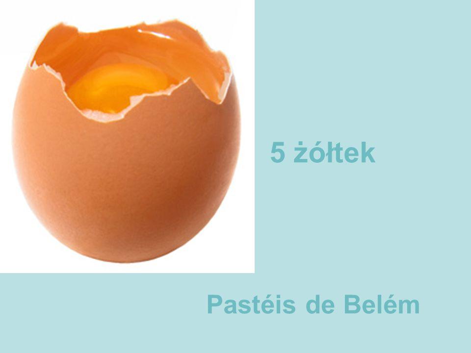 5 żółtek Pastéis de Belém